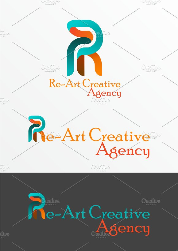 Re~Art Agency Logo Template in Logo Templates - product preview 5