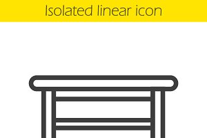 Kitchen table linear icon. Vector
