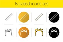 Billiard. 12 icons set. Vector