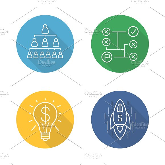 Business concepts. 4 icons. Vector - Icons