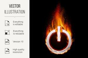 Fiery power button