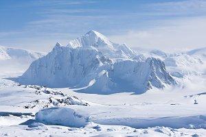 Mountain peak in Antarctica