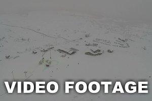 Ski Resort in Snowfall