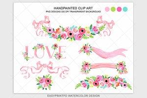 Pink Blush Patel Wedding Clipart
