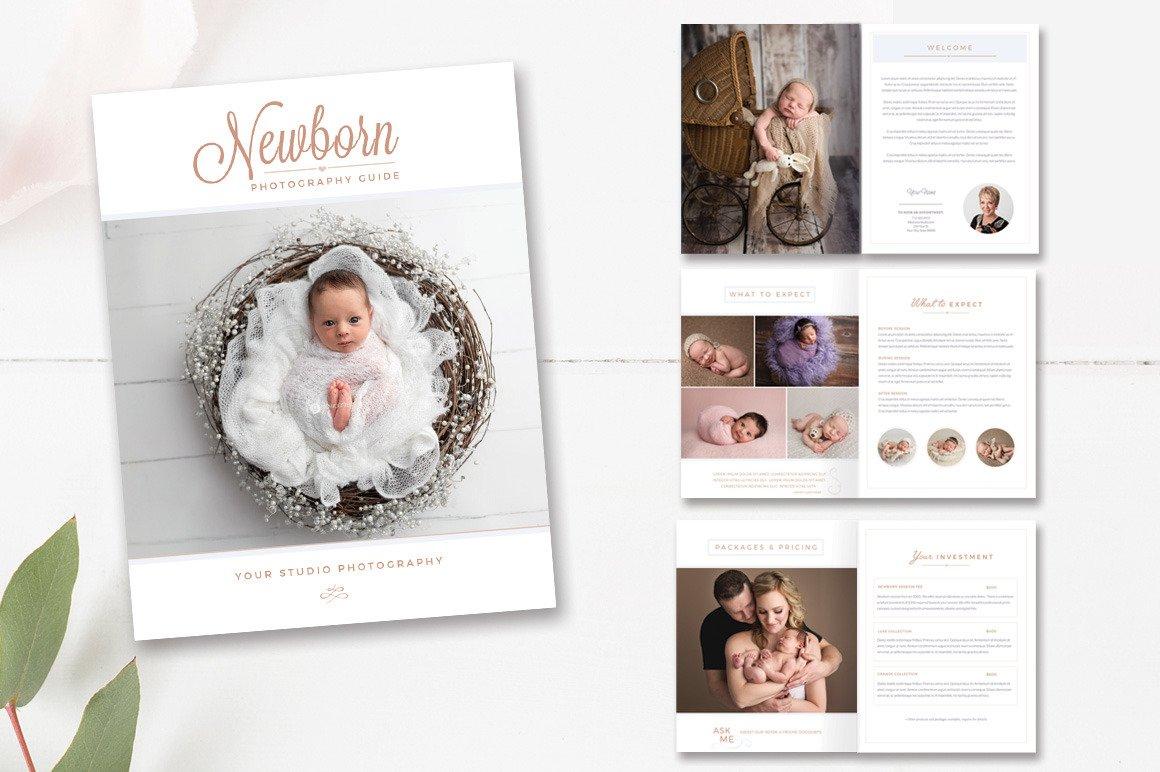Newborn Photography Magazine ~ Magazine Templates ~ Creative Market