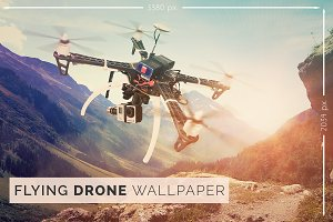 Flying Drone Wallpaper