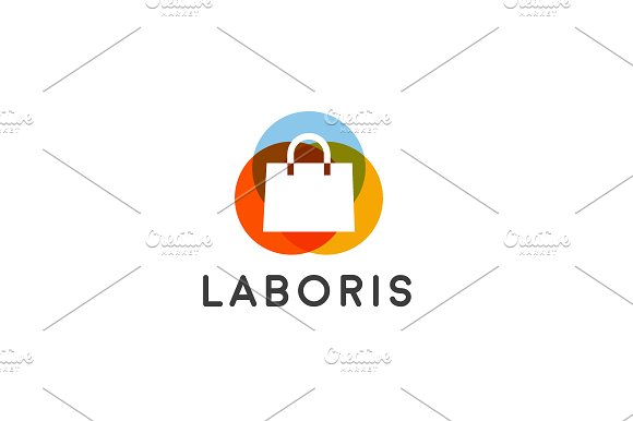 shopping bag logo ~ Logo Templates on Creative Market