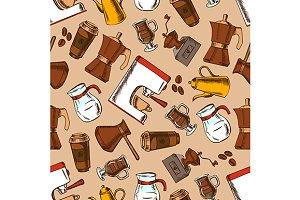 Coffee pots grinder espresso pattern