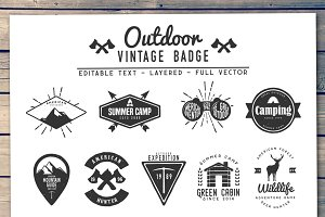 Outdoor Vintage Badge