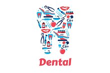Dentistry and dental care icon
