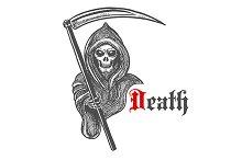Spooky death skeleton