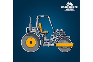Road roller mechanics scheme