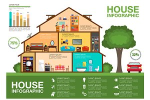 Eco friendly home infographics