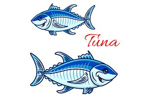 Atlantic bluefin tuna fish character