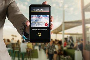 Paying by credit car via mobile app