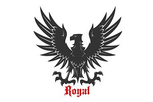 Black heraldic royal eagle