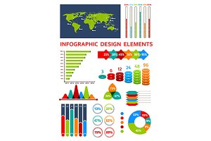 Colorful infographic symbols
