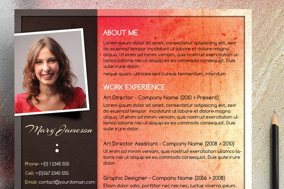 artistic resume resume templates creative market