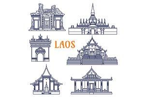 Popular laotian trvel landmarks