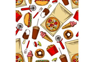 Pizza and fast food pattern