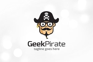 Geek Pirate Logo Template