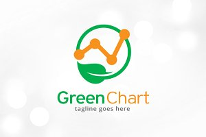 Green Chart Logo Template