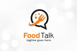 Food Talk Logo Template