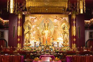 interior of the Buddha