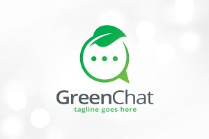 Green Chat Logo Template