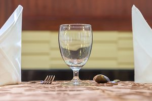 Elegance of glasses on table set