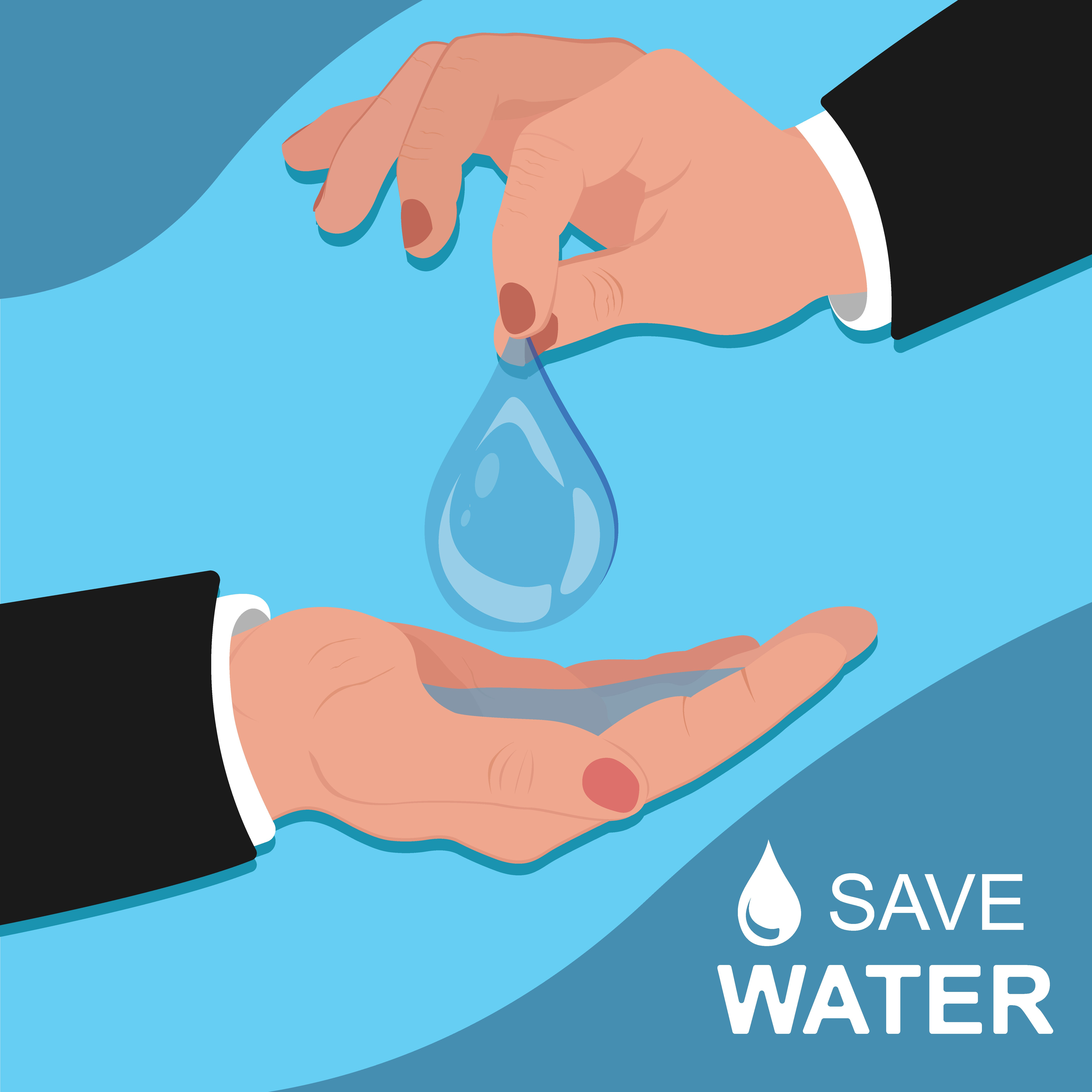 Save Water Concept Template Banner Illustrations Creative Market