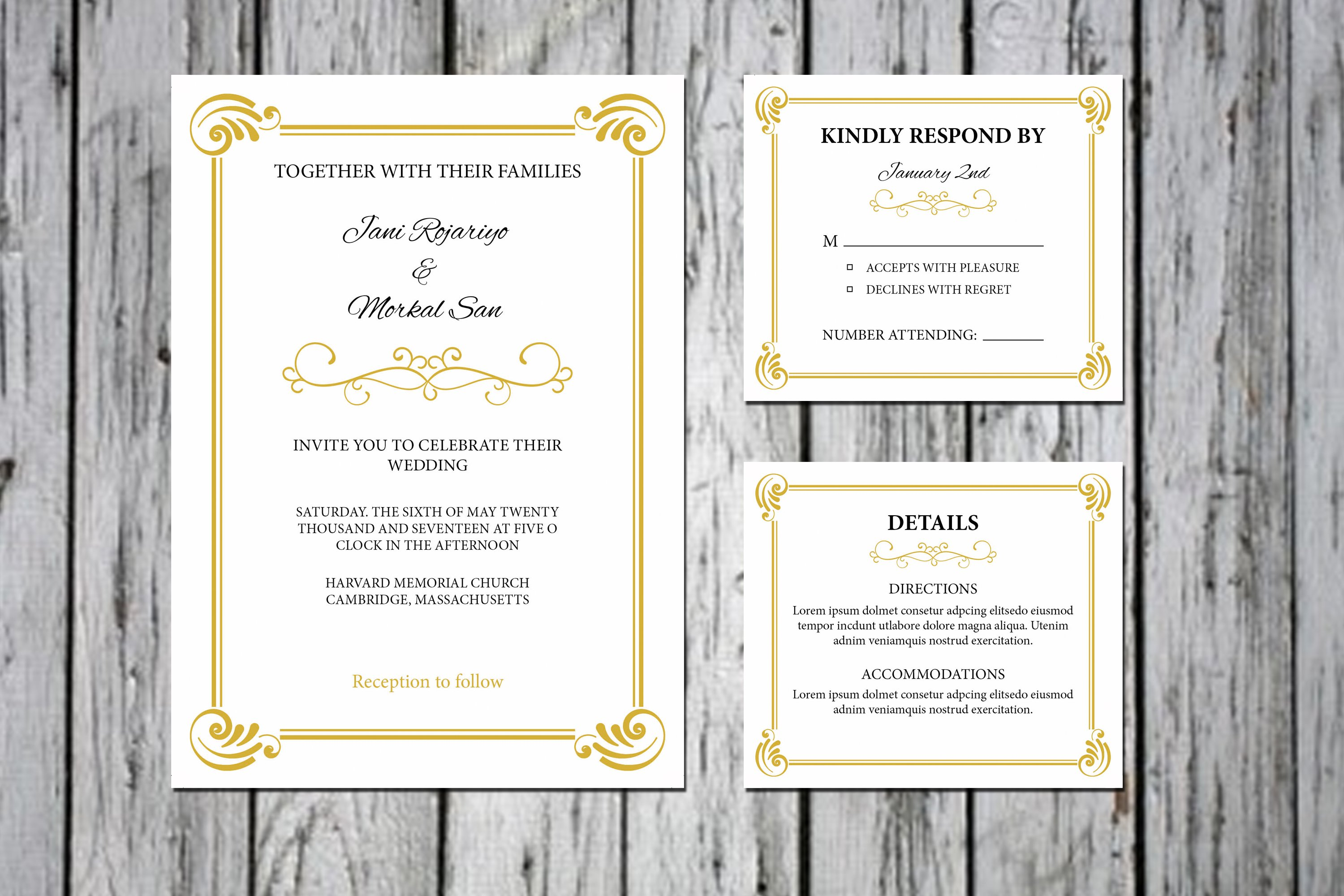 Wedding invitation template invitation templates creative market stopboris Choice Image