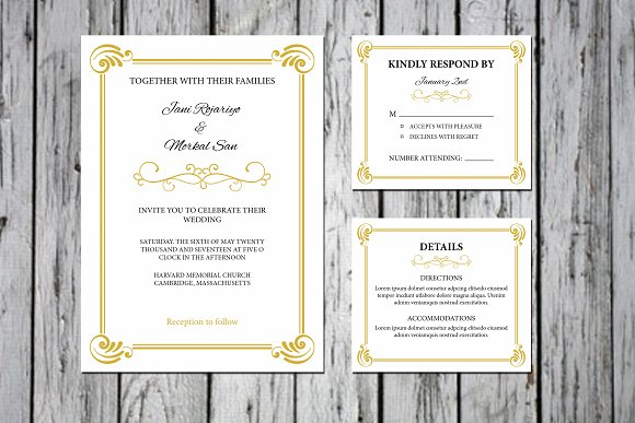 Wedding Invitation Template Templates Creative Market