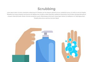 Scrubbing Hand with Soap