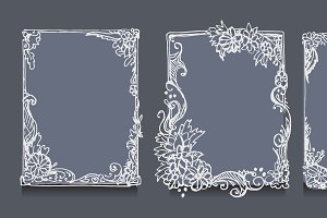 Hand drawn frame. Vector
