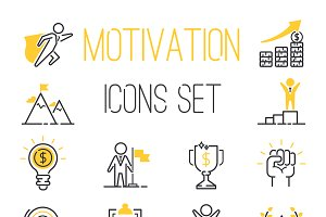 Motivations icons vector set