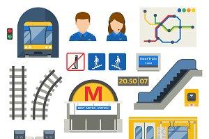 Metro underground symbol vector