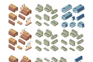 3d buildings vector set