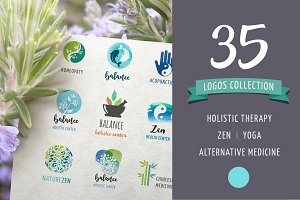 Alternative medicine, zen logos