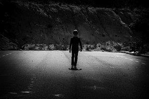 Children in the road.