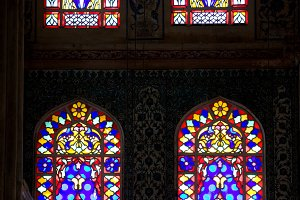Blue Mosque Stained Glass Windows
