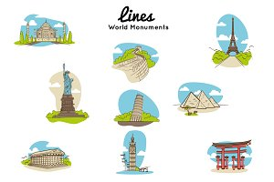 Lines World Monuments