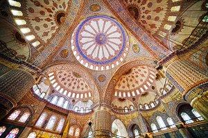 Blue Mosque Interior in Istanbul