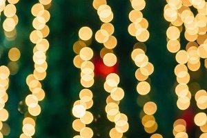 Blurred bokeh lights