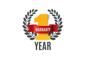 One year warranty background.