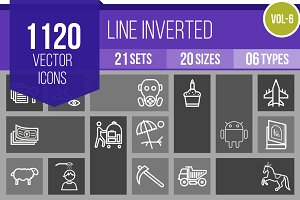 1120 Line Inverted Icons (V6)