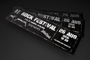Rock festival event ticket