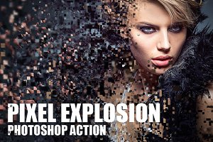 Pixel Explosion Photoshop Action