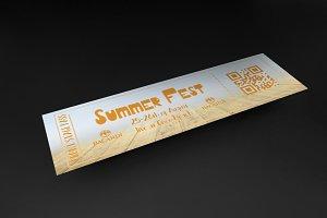Multipurpose Summer event ticket