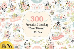 300 Wedding Floral Romantic Set